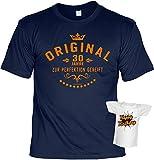 Herren T-Shirt zum Geburtstag - Geschenk zum 30. Geburtstag Geburtstagsgeschenk Geburtstagsshirt Original 30 Jahre + gratis Mini Shirt
