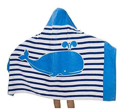 Superwinger Drap de bain façon poncho avec capuche pour enfant, idéal pour la plage, pour fille ou garçon, C, general