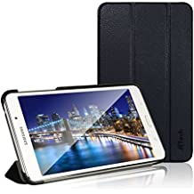 JETech Gold Slim-Fit - Funda para Samsung Galaxy Tab 4 (soporte de sobremesa), color negro