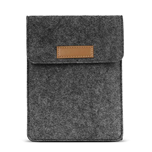 MoKo Sleeve Bag for Kindle Paperwhite / Kindle Voyage, Protective Felt Cover Pouch for Amazon Kindle Paperwhite / Voyage / Kindle(8th Generation, 2016) / Kindle Oasis E-Reader, Dark Gray