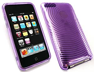 EMARTBUY APPLE IPOD TOUCH 2/3 LCD SCREEN PROTECTOR AND CONTOUR PATTERN SILICON GEL SKIN COVER/CASE PURPLE