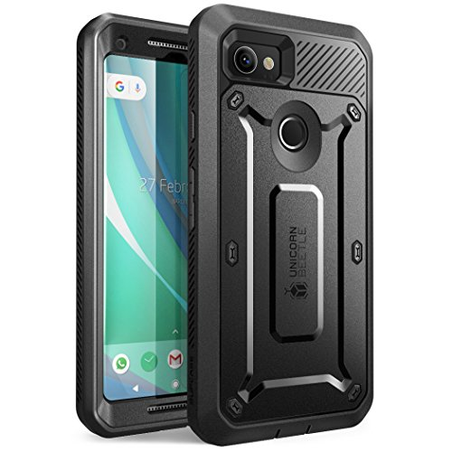 SUPCASE Google Pixel 2 XL Hülle, [Unicorn Beetle PRO] Handyhülle Ganzkörper Schutzhülle Robust Case Cover mit eingebautem Displayschutz und Gürtelclip (Schwarz)