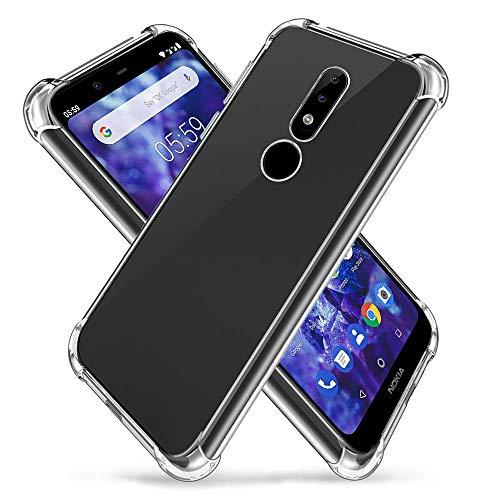 Vicstar Nokia 5.1 Plus Hülle, Nokia 5.1 Plus Case Liquid Crystal Soft Silikon Transparent Backcover Handyhülle für Nokia 5.1 Plus