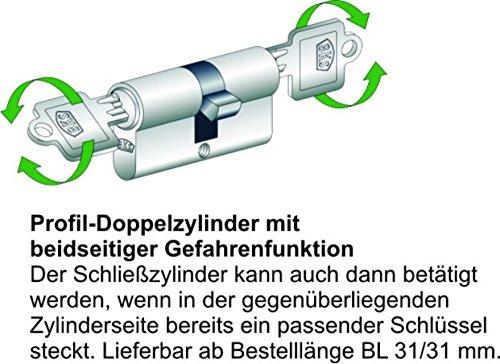 BKS Schließzylinder Serie 50 livius mit Not- und Gefahrenfunktion + 3 Schlüssel - 2