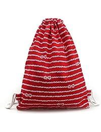 Mochilas tipo casual Sannysis bolsos de mujer con cordón, mochila infantil