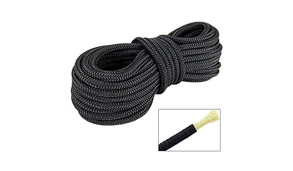 Polyester Seil mit Aramid Kern 4mm 20m Geflochten Schnur Tauwerk Abspannseil