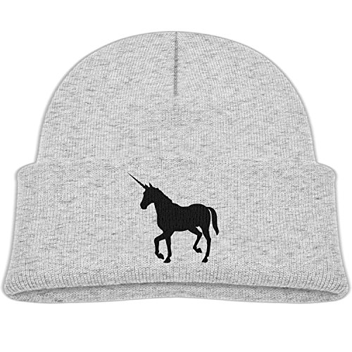 Bag hat Boys&Girls Skiing Knit Cap Silhouette Unicorn Candy Color Print Child Winter Hat (Visier Silhouette)