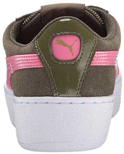 Puma Vikky Platform, Sneaker Alla Moda Donna Olive Night-rapture Rose