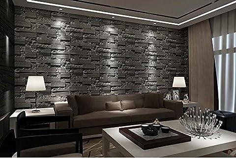 Papier peint style 3D modèle papier peint chambre salon TV fond brique brique brique de mur , no.3 (deep gray)