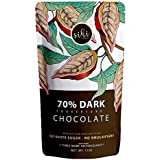 Sihi Chocolaterie Sihi 70% Dark Chocolate for Baking and Cooking - Pure Cacao / Cocoa - Natural, No White Sugar, No Lecithin,