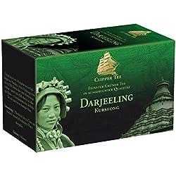 Goldmännchen Clipper-Tee Grüner Darjeeling, Grüntee, 20 einzeln versiegelte Teebeutel, 3er Pack (3 x 36 g)