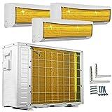 A++/A++/A++ TrioSplit Golden-Fin 9000+9000+9000 BTU MultiSplit Klimaanlage INVERTER Klimagerät und Heizung WiFi-Ready
