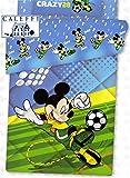 Trapunta invernale Disney Caleffi Topolino Mickey Calcio Singolo 1 piazza Blu disegno piazzato 170x260 cm