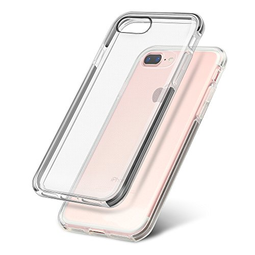 iPhone 7 Plus Custodia Coolreall® Cover Trasparente Crystal Anti-Graffio in TPU Silicone Morbida