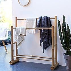 Unbekannt Tikamoon 2111Balyss Tür Handtuch Badezimmer-Bambus beige 100x 30x 100cm