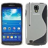 Samsung i9295 Galaxy S4 aktiv Etui HCN PHONE S-Line TPU gel Silikon Hülle flexibel für Samsung i9295 Galaxy S4 aktiv - TRANSPARENT + Eingabestift
