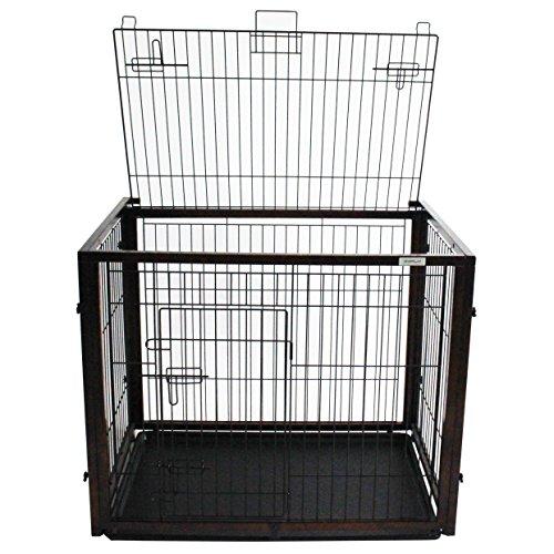 Simply Slide M | Hundekäfig | Hundebox | Holz | Slide-Funktion (Hundebox Aus Holz)