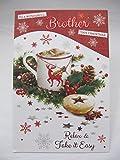 Unbekannt Wunderschönen Bunten to a Wonderful Brother Grußkarte Weihnachten