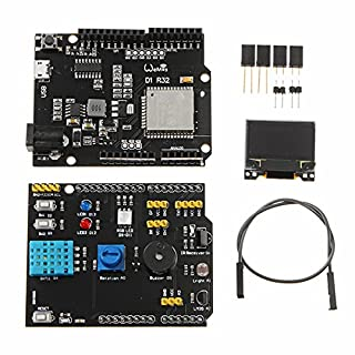 MYAMIA Wemos Multifunction Expansion Board Dht11 Lm35 Temperatur Feuchte UNO Tgo Esp32 Rev1 Wifi D1 R32 x-OLED 0.96 inch OLED Schild