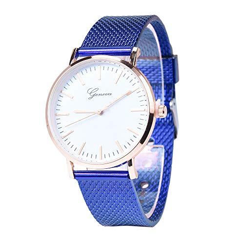 Relojes Mujer,Hanomes,Reloj de Pulsera de Pulsera de Gel de sílice de Cuarzo clásico de Ginebra