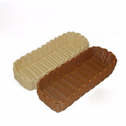 SSBY Posate cesti di storage bacchette di pizzo cesti alimentari cestello stoviglie di scarico in PP rattan rattan lace (pacchetto *2),S