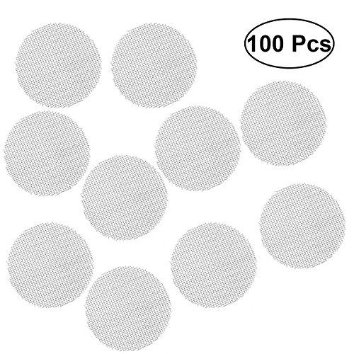 bestonzon Filter von Rauch aus Edelstahl 100Stück Filter für Bildschirm (Silber)