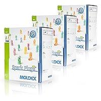 Moldex Spark Plugs Soft (7800) Lot de 200paires de bouchons d'oreille, protection antibruit, SNR: 35dB, emballage hygiénique et pratique par paire