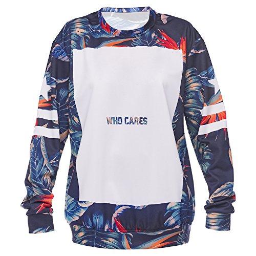 WHO CARES Company© Imprimé 3D Sweat-shirts Impression/Motif/Conception Taille unique Unisexe Printemps Été 2017 TROPICAL BJ-V2OT-8XCU