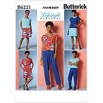 Shorts /& Pant... Butterick Ladies Easy Sewing Pattern 6225 Pyjama Top Gown