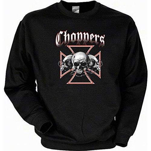 Totenköpfe Skulls Biker Choppers Sweatshirt Gr XXL in schwarz