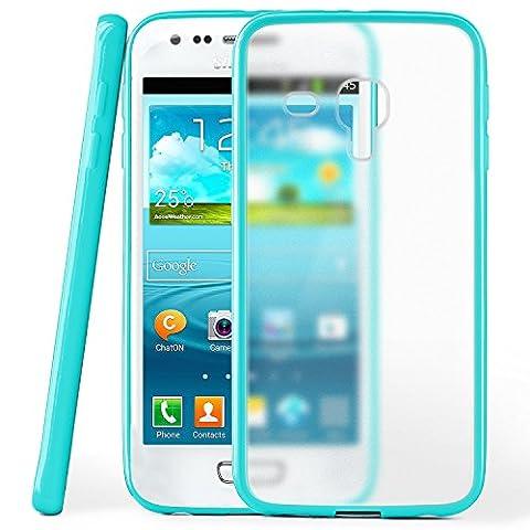 Samsung Galaxy S3 Mini Hülle Slim Transparent Türkis [OneFlow Impact Back-Cover] Dünn Schutzhülle Silikon Handy-Hülle für Samsung Galaxy S3 Mini S III Case TPU Tasche