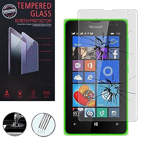 1 Film Vitre Verre Trempé de protection d'écran pour Microsoft Nokia Lumia 532/ 532 Dual SIM - TRANSPARENT