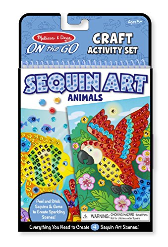 Melissa & Doug  On-The-Go Crafts Animals Sequin Art