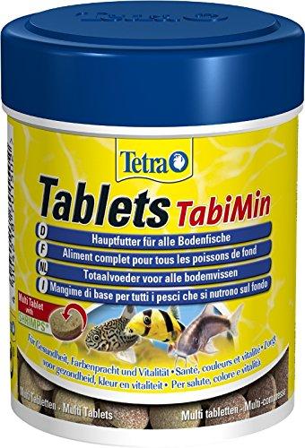Tetra Tablets TabiMin Hauptfutter (Futtertabletten für am Boden gründelnde Zierfische, für alle bodenfressenden und scheuen Fische), 275 Tabletten Dose -