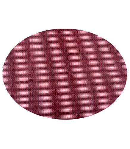 Secret de Gourmet - Set de table texaline oval rouge