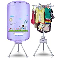 CX ECO Round Shape Dryer Portable Clothes Dryer Machine Fast Dryer Home Underwear Disinfection Machine Quick-drying, Energy Saving,Purple