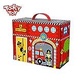 Tooky Toy – Maletín Parque de bomberos portátil. Juguete educativo...