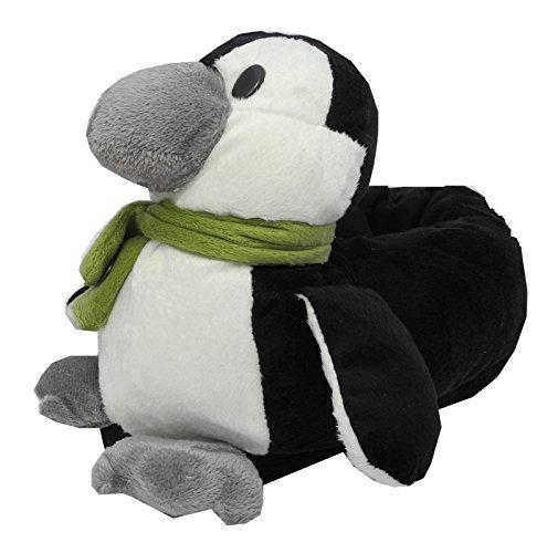 Garçons Filles Mesdames Fourrure Fantaisie Pingouin Chaussons Animaux Adulte Taille 3–9