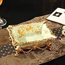 XOYOYO Cenicero Retro estilo europeo elegante adornos de mesa cuadro Clave habitación Classic Home Furnishing creativo humo decorativo placa,Saatchi Cenicero A12