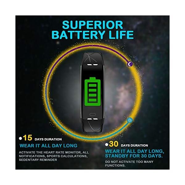 Pulsera Actividad Hombre Mujer - Pulsera Actividad Inteligente Reloj GPS Temporizador Podómetro Pulsómetro Impermeable IP68 Pulsera Deportiva Smartwatch Para Xiaomi Samsung Huawei Android iPhone iOS 2