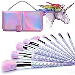 Pinceau de Maquillage Diamant Licorne, INTVN 20 pcs Professional Maquillage Set de Brosse Maquillage Kit de Toilette Set de Brosse