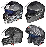 RS-982 Klapphelm Motorradhelm Conzept Motorrad Modular Roller Helm rueger, Größe:L (59-60),...