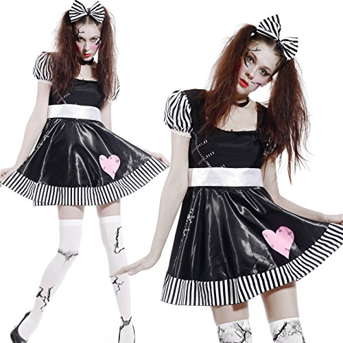 Imagen de maboobie  disfraz de muñeca broken doll zombie tenebroso para mujer fiesta temática carnaval halloween alternativa