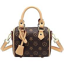 La Mujer Bolso Estampado Mini Almohada Moda Bolsa De Hombro Único Sesgar Handbag,Brown,