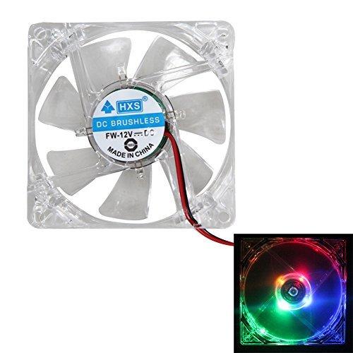 Led Case Fan (winnereco Fall Kühler Lüfter Fan 2X Colorful LED Case Fan 12V 4pol 80mm 80x 25mm für Computer PC CPU-Kühler)