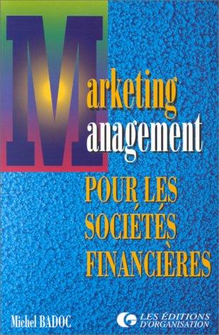 Marketing et management des sociétés financières