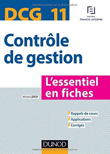 Télécharger Pdf Dcg 11 Contrôle De Gestion Lessentiel En Fiches