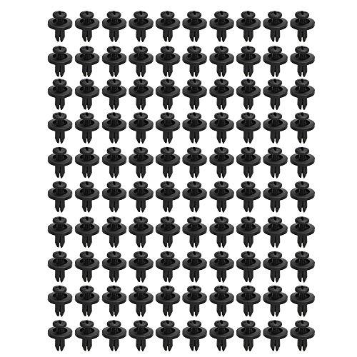 KKmoon en Nylon Attache Rivet Clips Push Type Fixation Rivet Retenue Garniture 6mm Trou Taille 100 Pcs