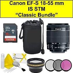 Classic Bundle EF-S 18-55 mm f/4-5.6 is STM Objectif (Emballage en Vrac - boîte Blanche) Nouvelle Version