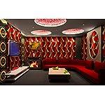 HEYUN& 3D estereoscópica KTV entretenimiento herramientas barra de papel tapiz de fondo fondo de pantalla pasillo verde de la caja pasillo pintado abstracto ( Color : A )